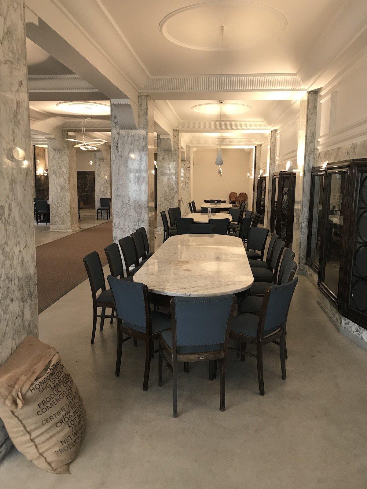 Der Saal für die Direktoren von Kaffee-HAG in der heutigen Lloyd Caffee Rösterei