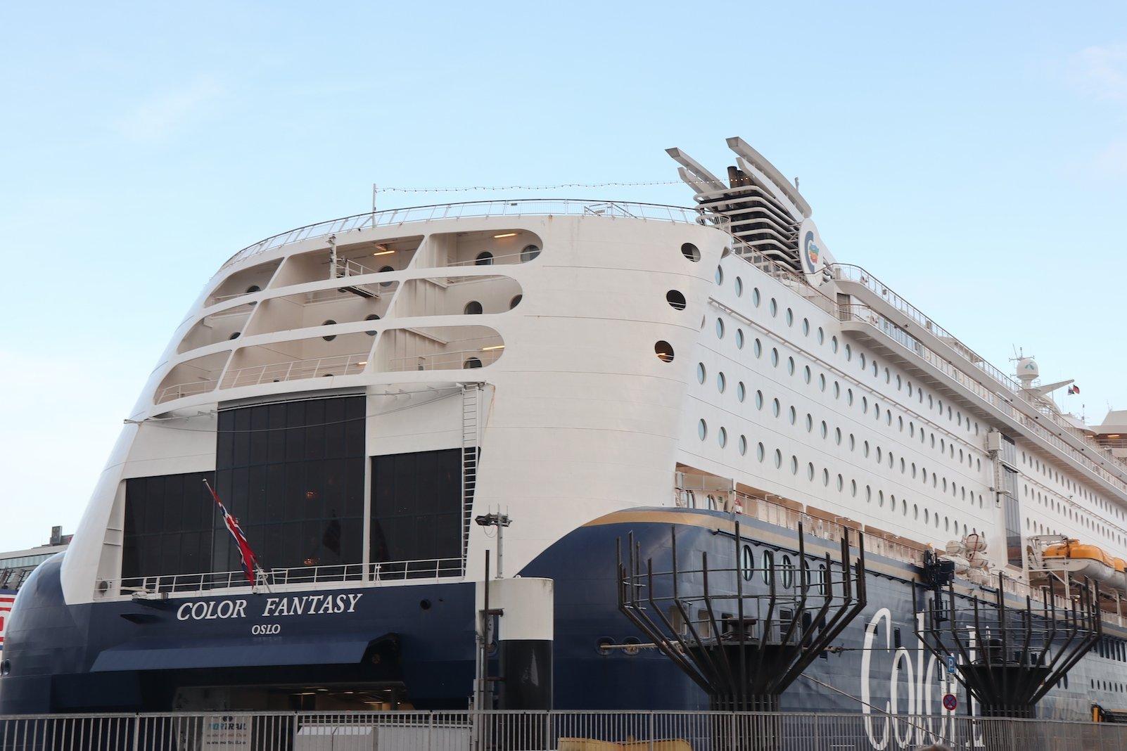Die Color Line Fantasy im Hafen von Kiel