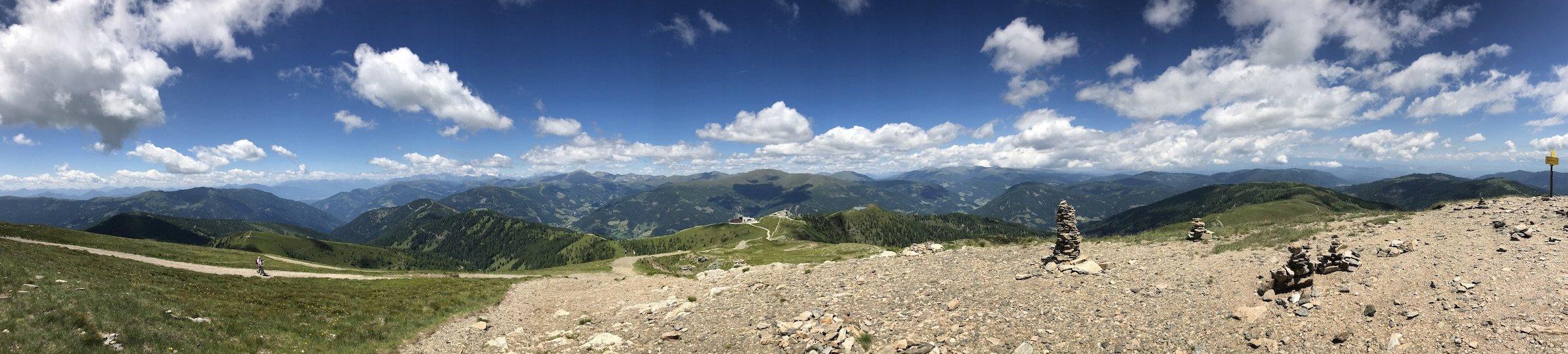 Panorama am Gipfel Kaiserburg