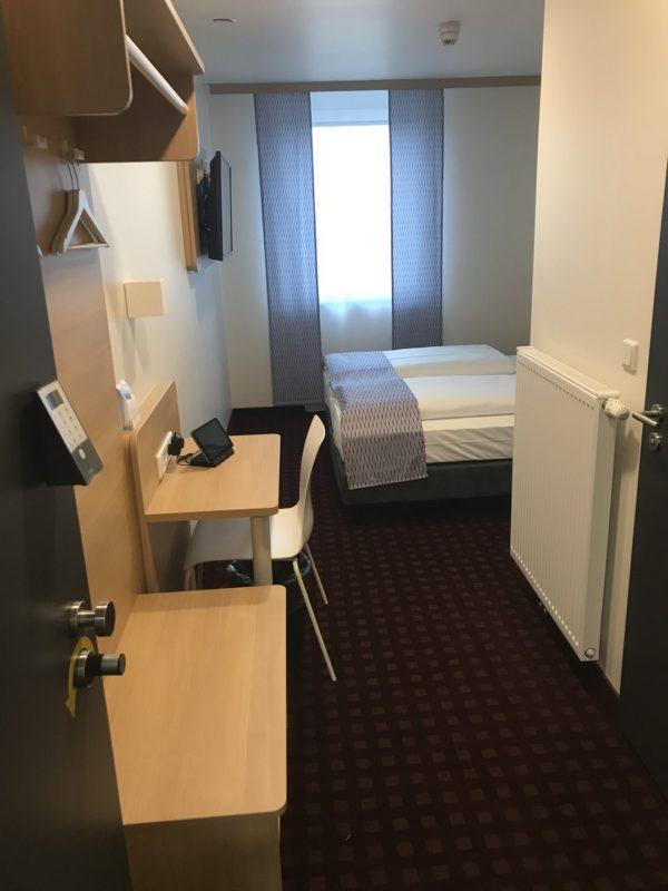 Der erste Blick in mein Zimmer im McDreams Hotel in Essen