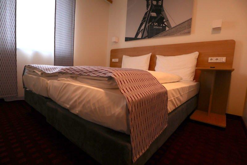 Boxspringbett im McDreams Hotel Essen