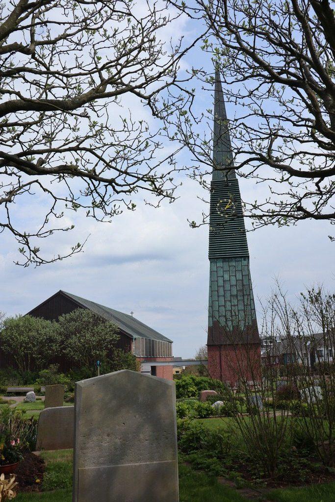 Evangelische Kirche Sankt Nicolai im Friedhof von Helgoland