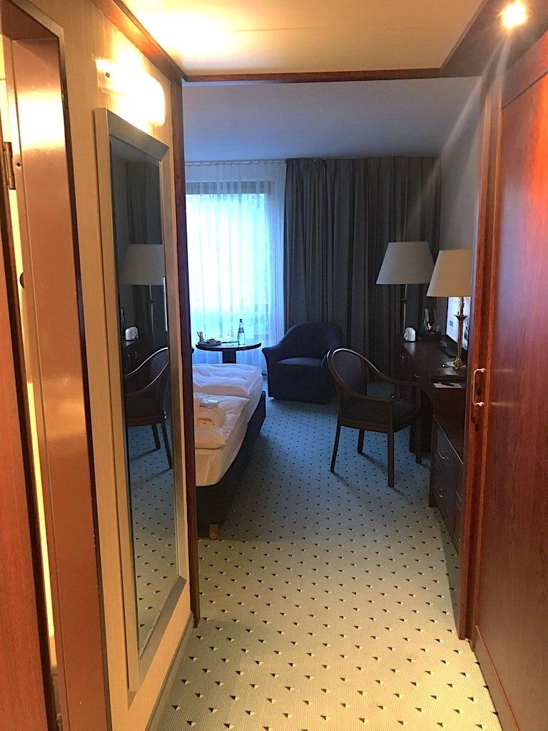 Erster Blick in mein Zimmer im Maritim Hotel Bremen