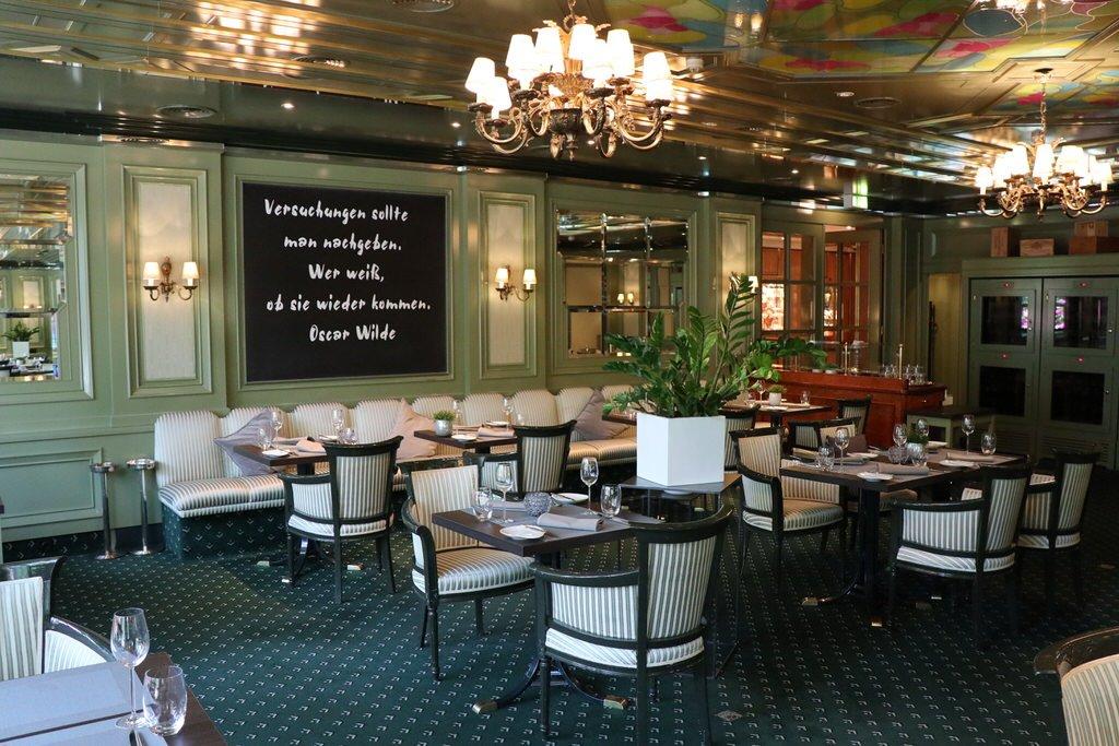 """Ein Blick in das Restaurant """"L'Echalote"""" bei meiner Hausführung im Maritim Hotel Bremen"""