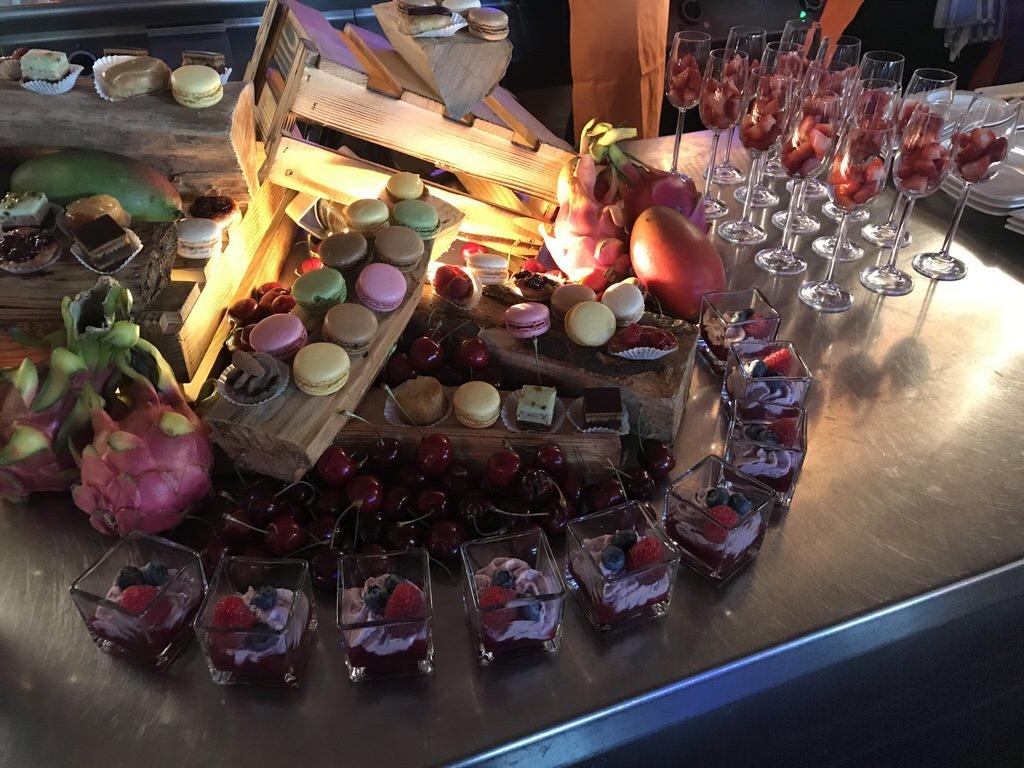 Nachtisch bei der Küchenparty im Maritim Airport Hotel Hannover