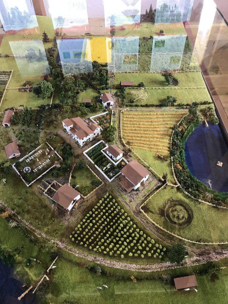 Modell der Villa Rustica