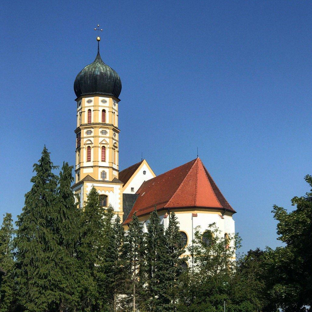 St. Martin Kirche Marktoberdorf ein paar Meter weiter in Richtung Lindenallee