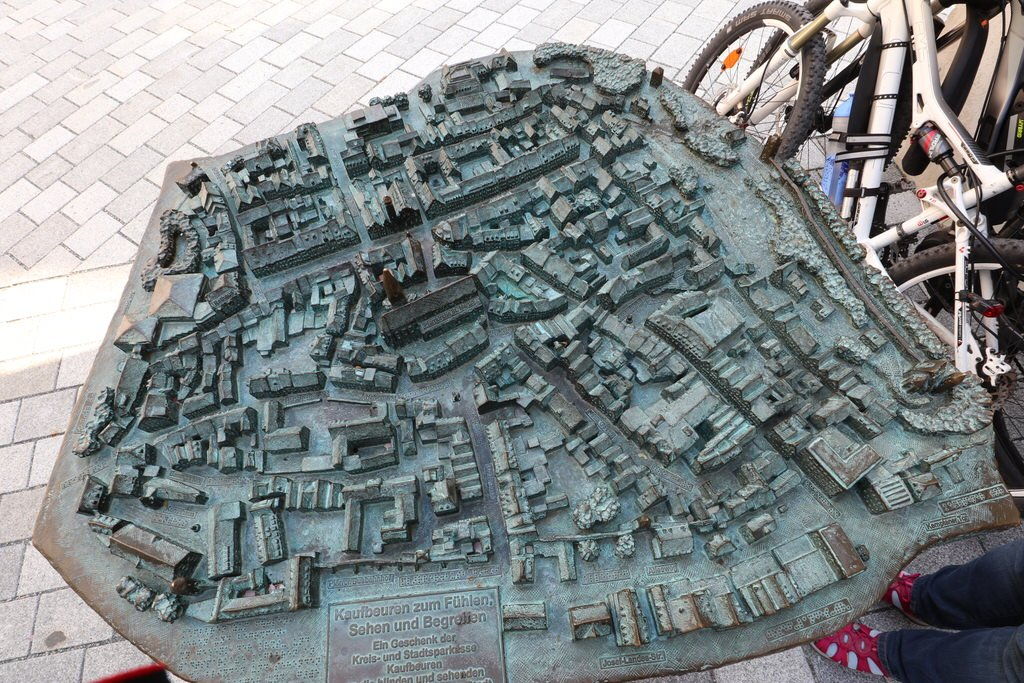 Modell der Stadt Kaufbeuren zum Fühlen, Sehen und Begreifen