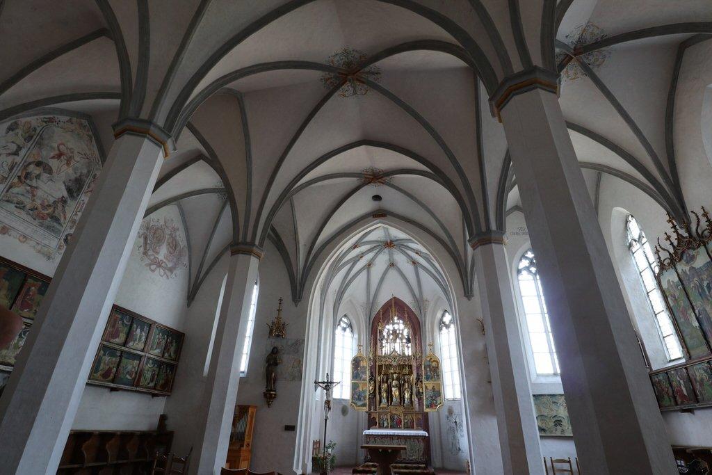 Ein Blick in die St. Blasius Kirche in Kaufbeuren