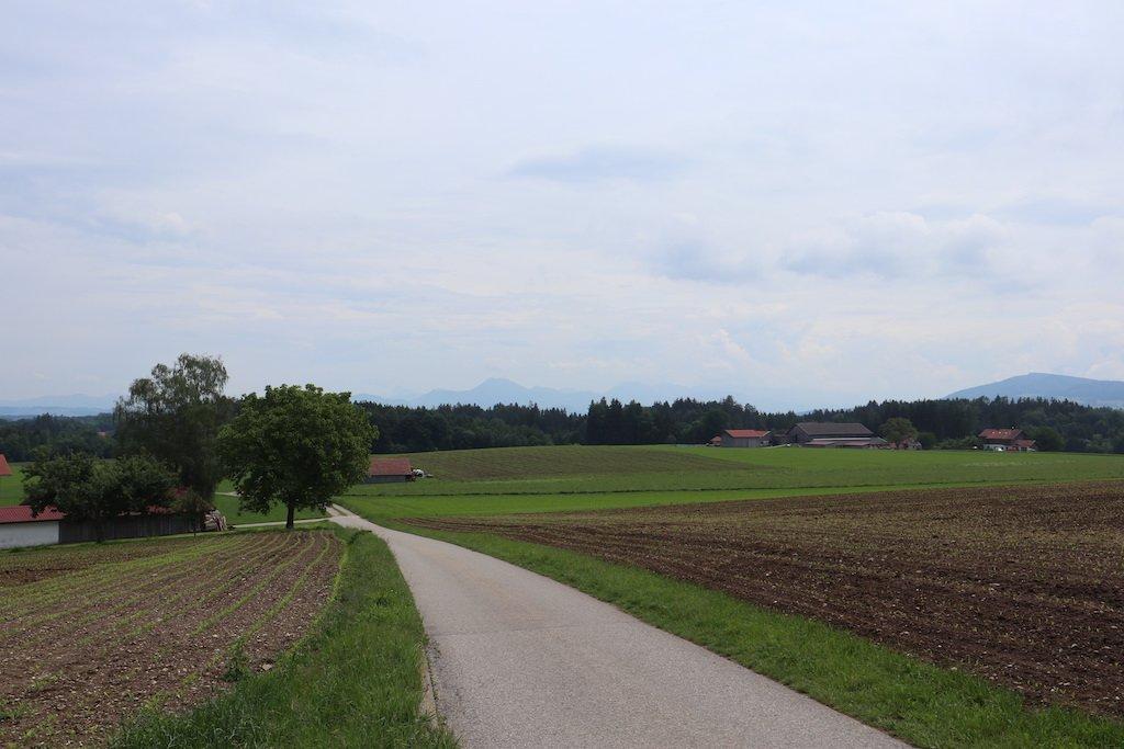 Beginn der Strecke - Übergang auf den Feldweg kurz nach Holzhausen
