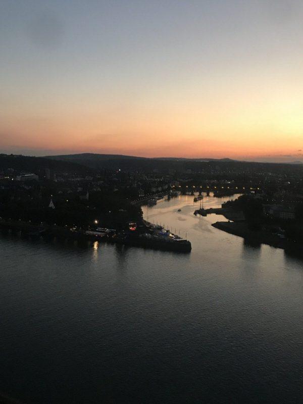 Und noch mehr Sonnenuntengang in der Seilbahn Koblenz