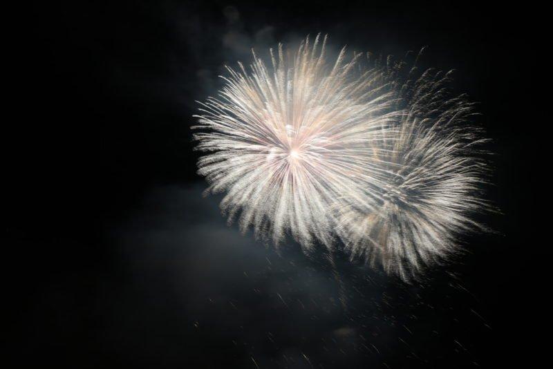 Unscharfes Bild vom Feuerwerk