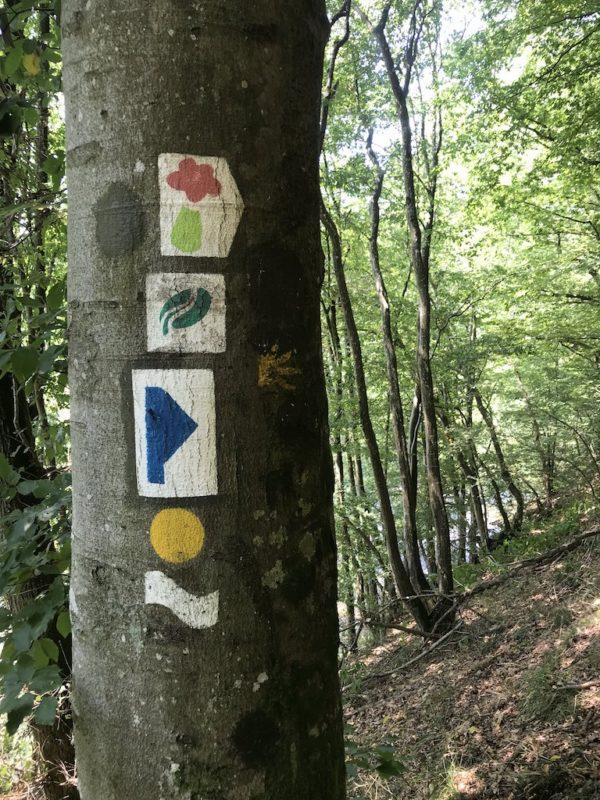 Wegemarkierung in Luxemburg