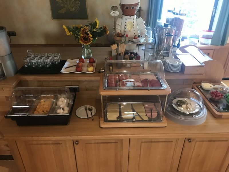 Wurst und Käse zum Frühstück im Hotel Haus Hubertus Winterspelt