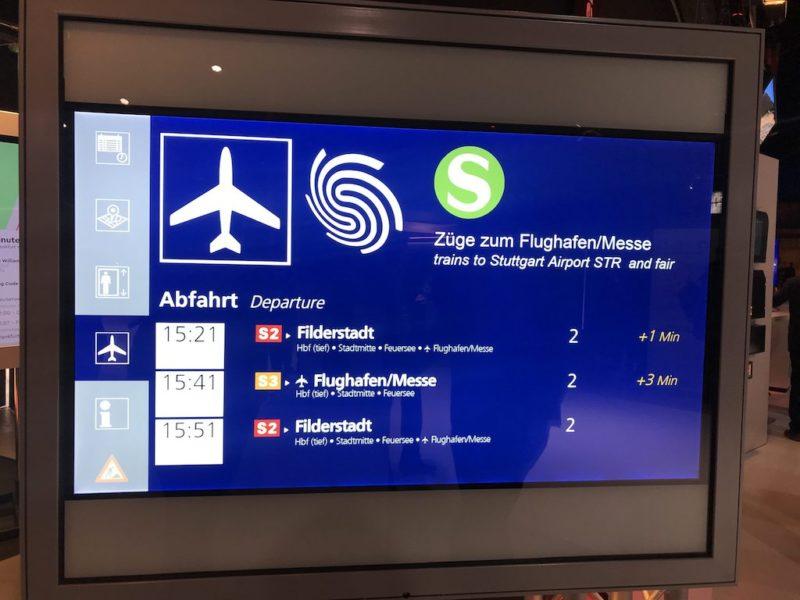Scheibendisplay-Test bei der S-Bahn Stuttgart