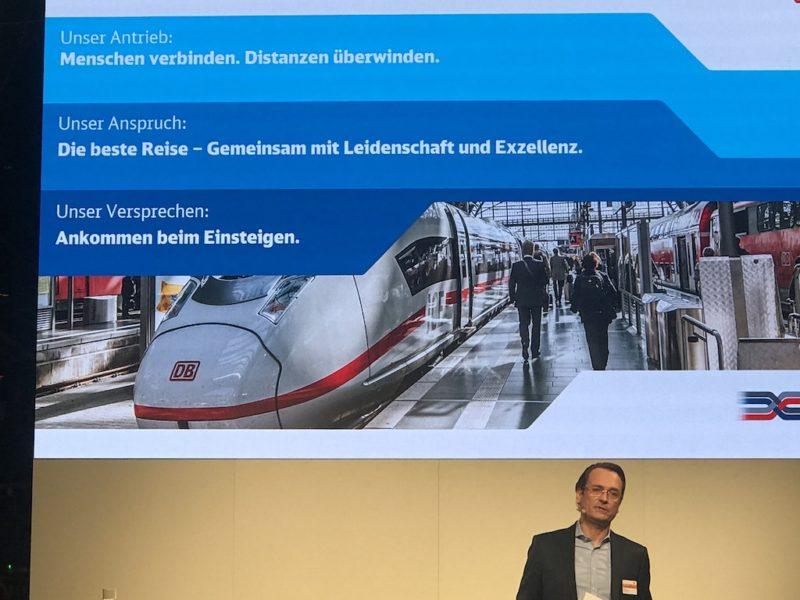 Dr. Michael Peterson, Vorstand Marketing DB Fernverkehr , beim #DBME18