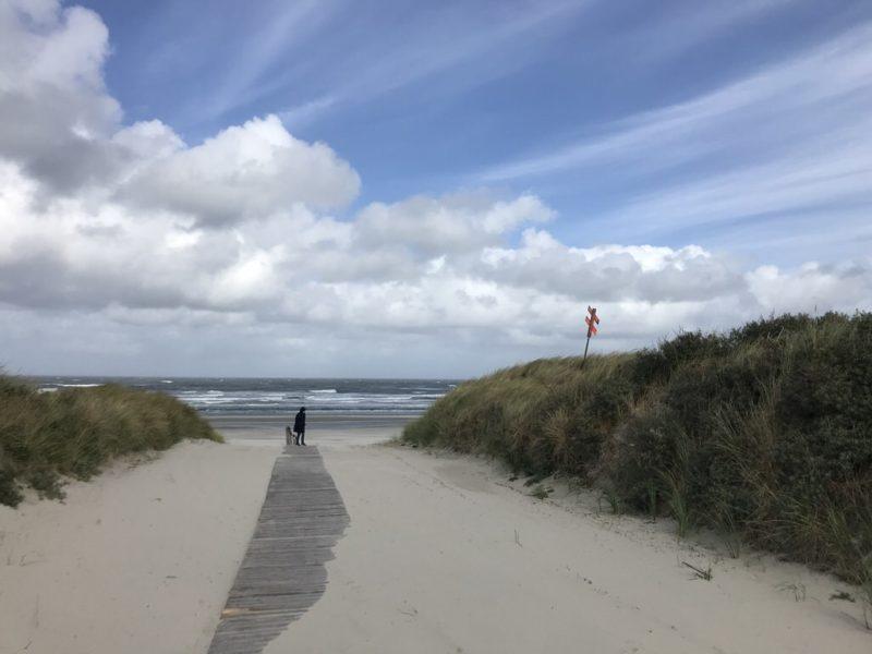 Ein Weg zum Strand auf Juist