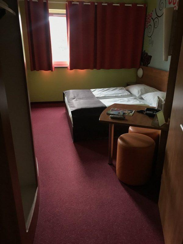 Der erste Blick in mein Zimmer 227 im B&B Hotel Koblenz