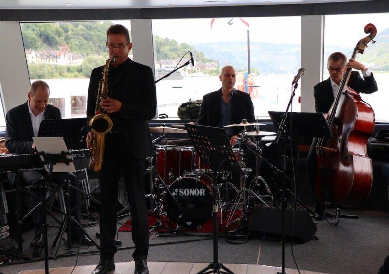 Henning Wolter's Summertime Swing, hier noch zu viert bei Bingen swingt und der Riverboat-Shuffle