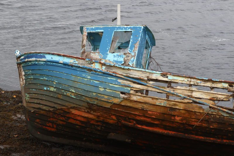 Zerfallendes Boot bei Teelin