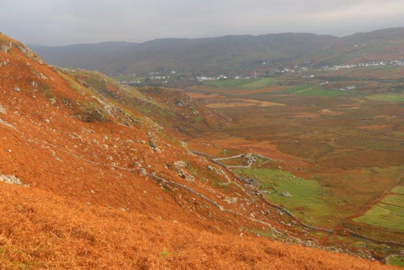 Ein Blick zurück über das Tal