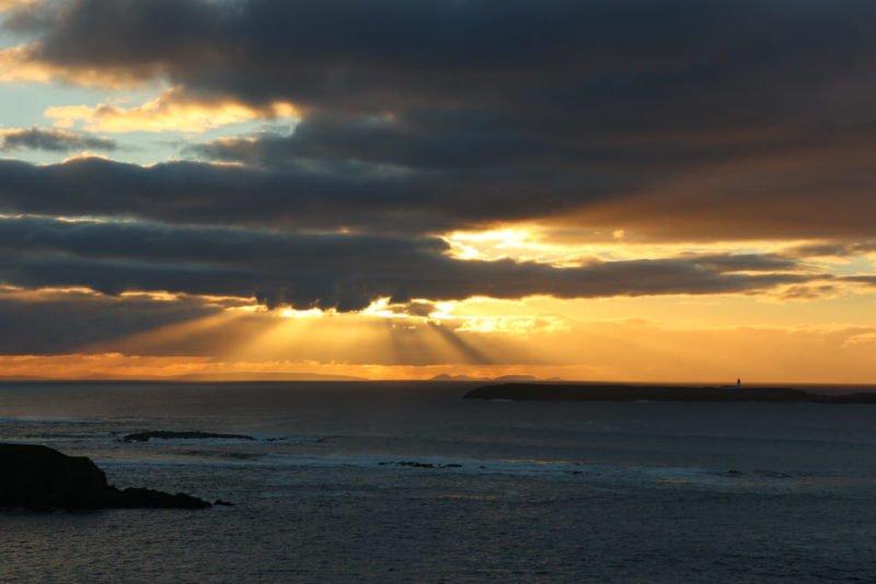 Sonnenuntergang bei Malin Beg - unbearbeitet...