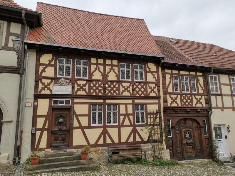 Das Geburtshaus von Regiomontanus auf dem Salzmarkt in Königsberg i. Bayern