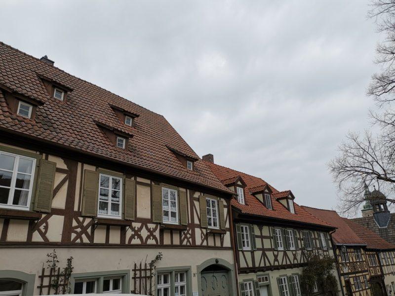 Wundervolles Fachwerk soweit das Auge reicht in Königsberg in Bayern auf dem Salzmarkt