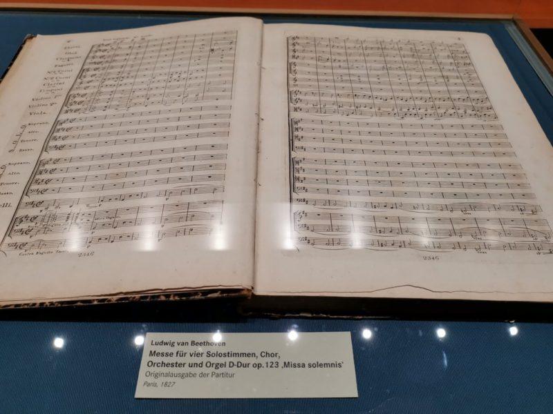 Partitur aus Missa Solemnis