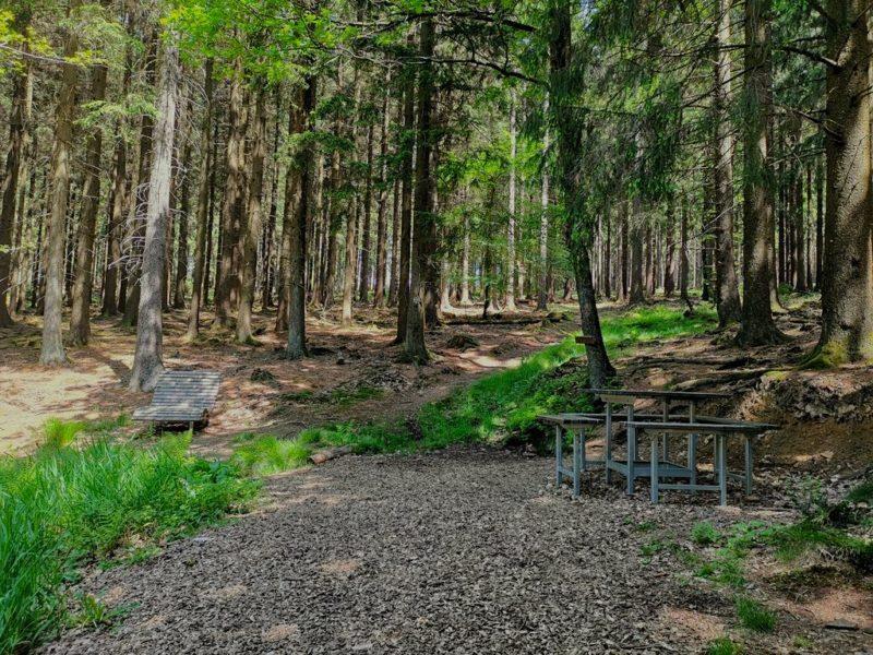 Bocksbornquelle mit Rastmöglichkeit auf der Dill-Bergtour