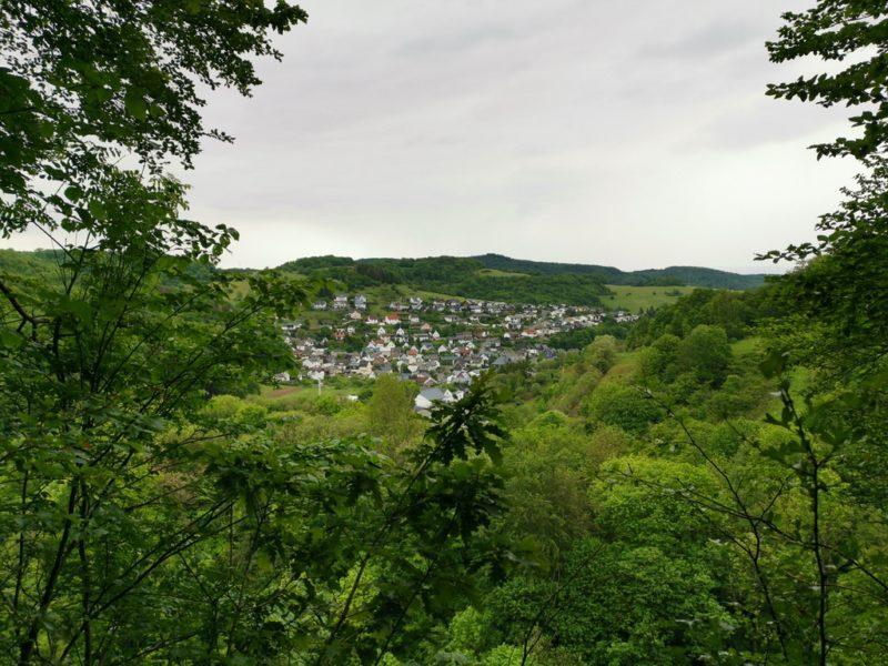 Aussicht auf der Breitscheider Höhlentour