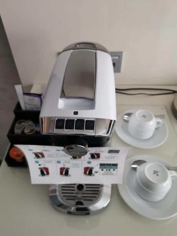 Kaffee-Kapselmaschine auf der Panoramasuite