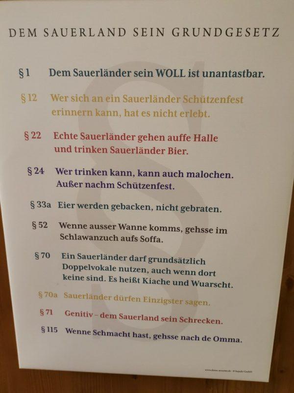 Das Sauerland Grundgesetz