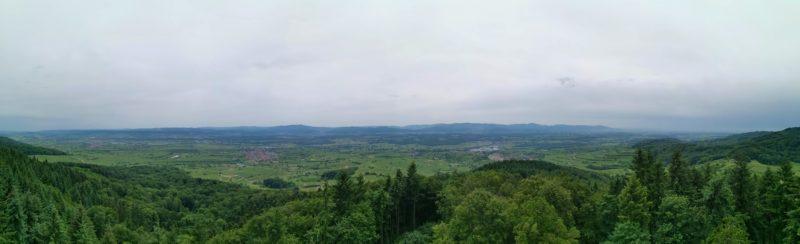 Panoramablick in eine Richtung vom Eichelspitzturm