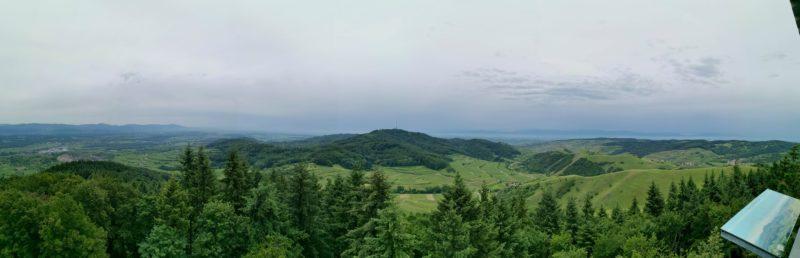Panoramablick in die andere Richtung vom Eichelspitzturm