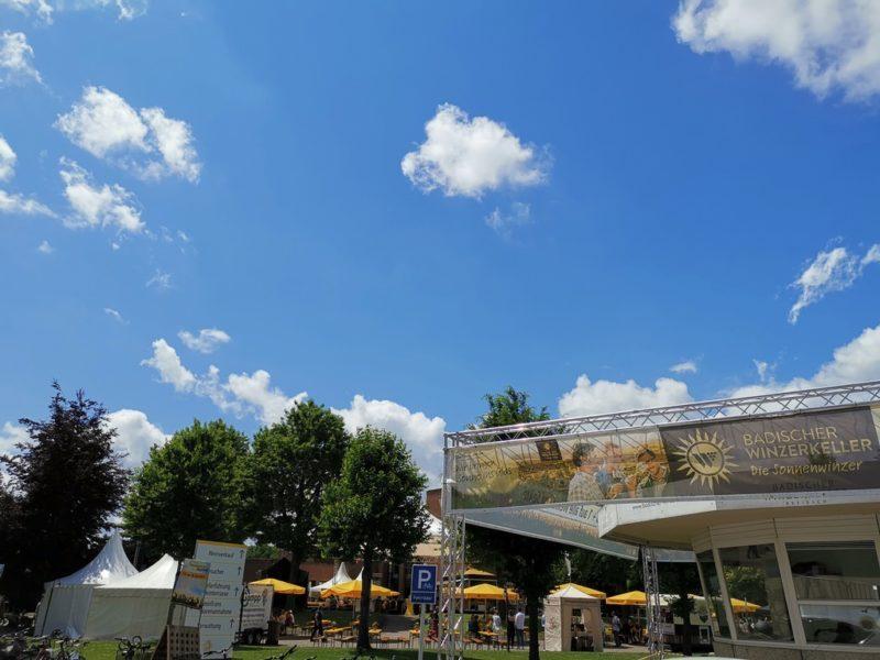 Festgelände der Badischen Winzerkeller in Breisach für das Sonnenwinzer-Festival 2019