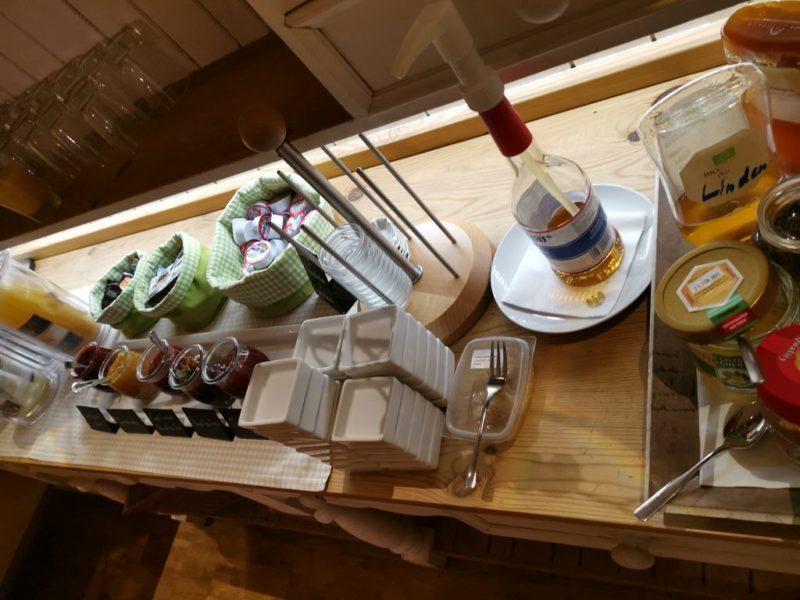 Marmelade und Honig zum Frühstück im Adler Landhotel Bürgstadt