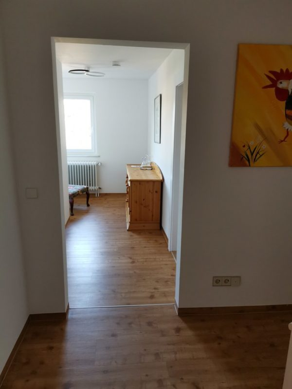 Der erste Blick in das Zimmer 2 im Hotel-Restaurant Bräutigam's Weinstuben