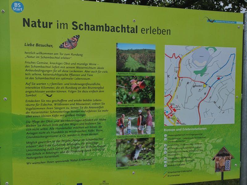 Infotafel zum Schambachtal-Erlebnispfad Bötzingen