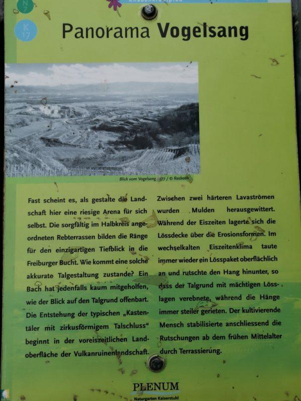 Tafel mit historischen Bild zum Panorama Vogelsang