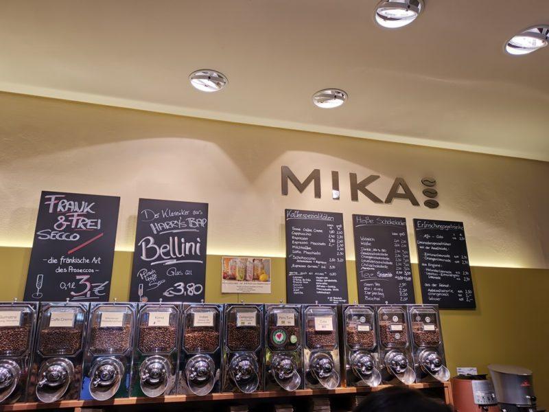 Große Auswahl an Kaffee in der Kaffeerösterei Mika Miltenberg