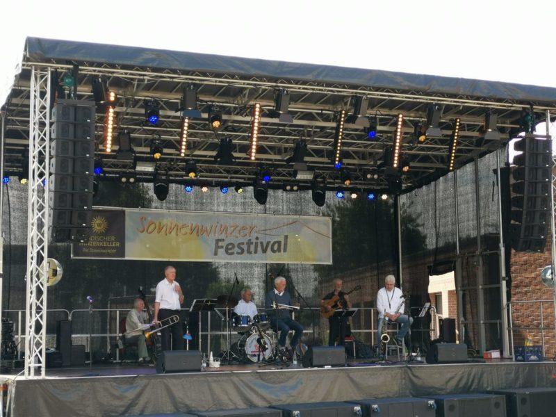 Die Cherrypickers auf dem Sonnenwinzer-Festival 2019 in Breisach auf der Bühne