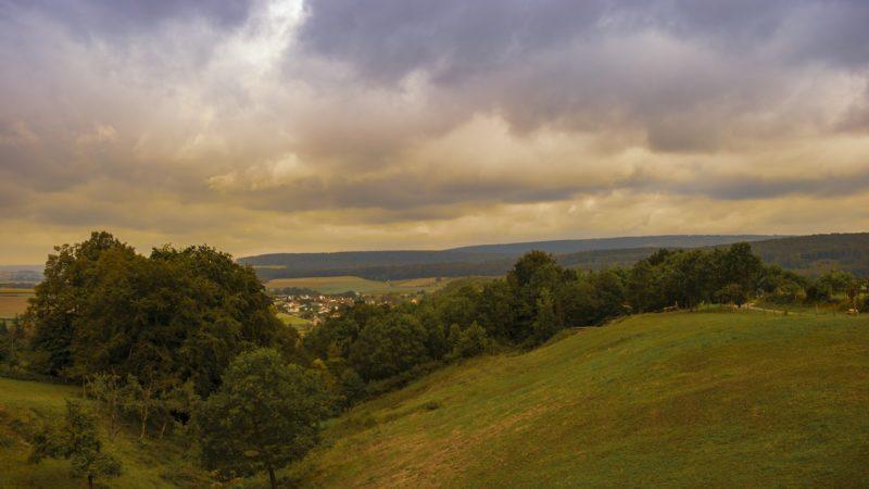 Ausblick bei unserer Achtsamkeitswanderung auf dem Niesetalweg im Kulturland Kreis Höxter (Foto: I. Jansen, Kulturland Kreis Höxter)