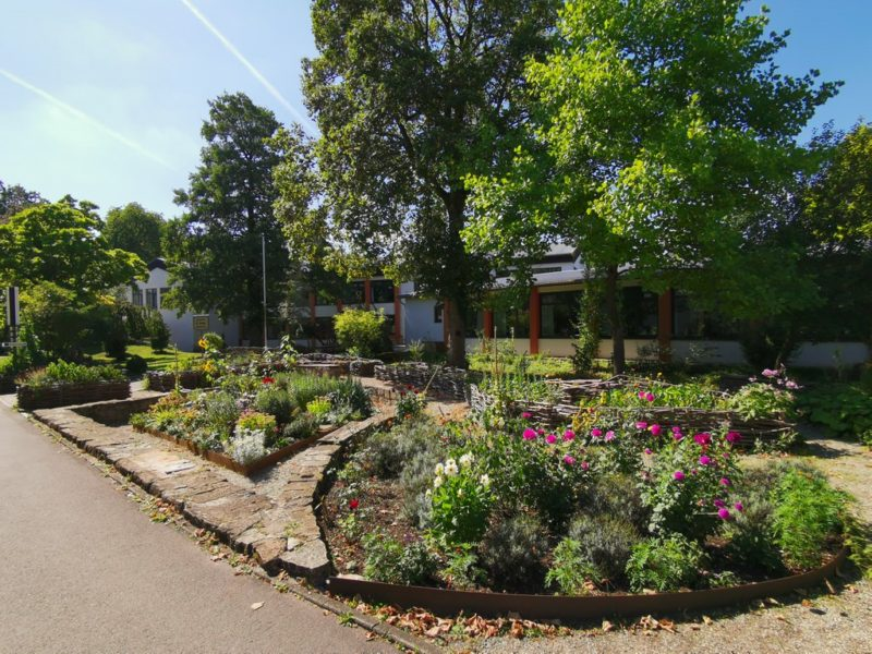 Der Klostergarten in Neuenheerse gegenüber des Landgasthofs Ikenmeyer