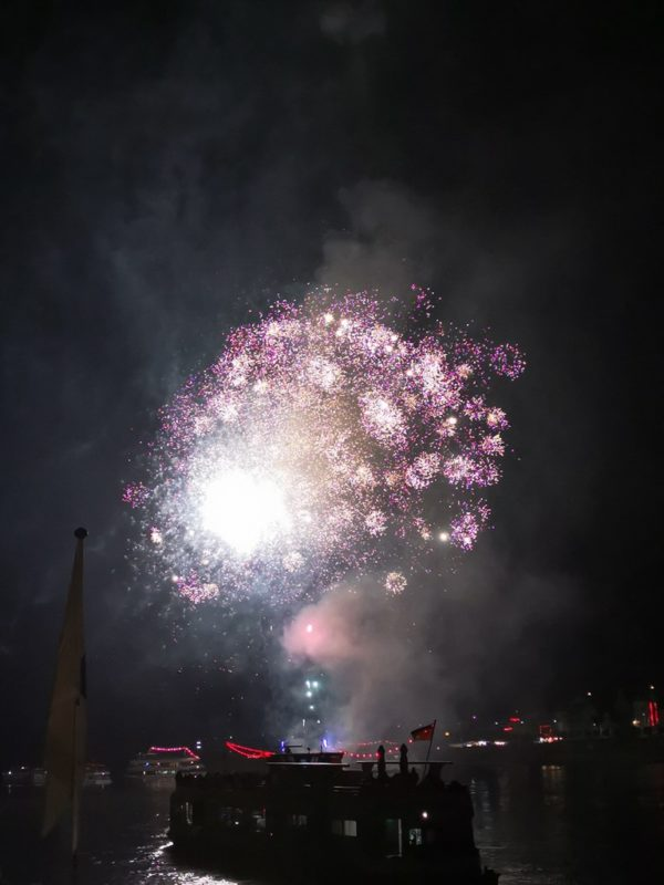 Lila Pünktchen haben mir auch gut gefallen beim Feuerwerk