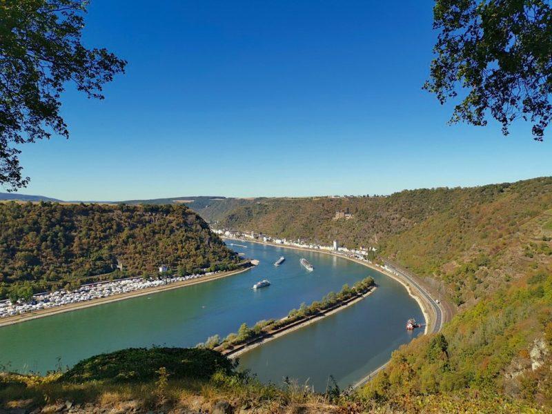 Auch hier auf dem Loreleyfelsen biete sich ein fantastischer Blick auf den Rhein