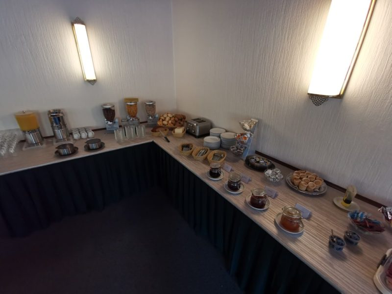 Und auch Säfte und Brötchen gibt es zum Frühstück im Hotel Schlaadt in Kestert