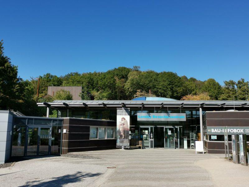 Das Loreley Besucherzentrum inklusive der Bau-Infobox