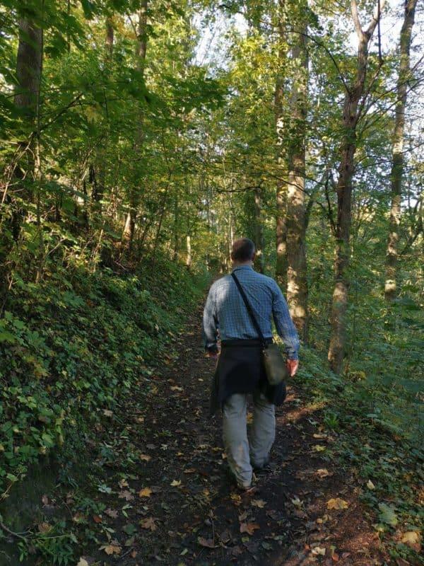 Ich beim Wandern bei Rothenburg