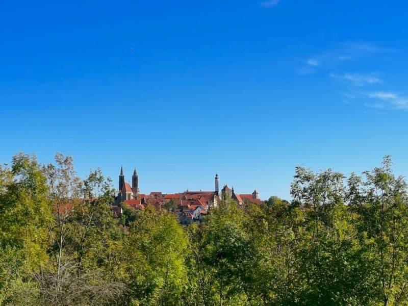 Ein letztes Mal ein Panoramablick auf Rothenburg